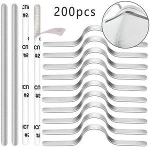 Nasenbügel Draht für Mundschutz 200 Stück, 90mm Flache Aluminium Selbstklebend Nasenbügel, Biegsame Nase Metallbügel Nasendraht Basteldraht für Gesicht DIY Basteln Zubehör