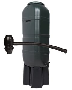 Ondis24 Regentonne Wassertonne  Regenbehälter 100 L mit Ständer und Füllautomat grün