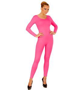 Ganzkörper Body in rosa mit Ärmeln - Bodysuit Damen Basic, S/M