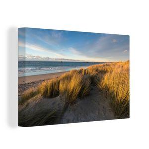 Leinwandbild - Düne - Strand - Meer - 60x40 cm - Foto auf Leinwand - Gemälde auf Holzrahmen