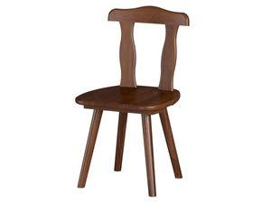 2 x Esszimmer-Stuhl im Landhausstil Aosta-20.1 Massivholz mocca Esszimmerstuhl im 2er SET