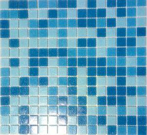 Schwimmbad Mosaik  PoolMosaikfliese Glas hellblau blau papierverklebt MOS52-0402_Papier_f   10 Mosaikmatten