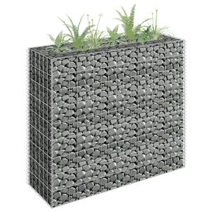 Gabionen-Hochbeet Garten-Hochbeet Hochbeet Verzinkter Stahl 90×30×90 cm