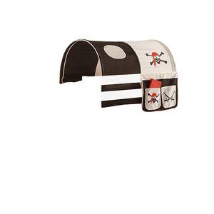 Tunnel + Bett-Tasche Pirat 100% Baumwolle Kinderzimmer Stofftasche Baldachin Dach Bettdach Himmel für Hochbett Spielbett Etagenbett Kinderbett