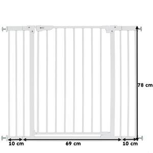 LCP Kids 70-100 cm Türgitter Easy-Close Treppenschutzgitter + 2x 10 cm Extension