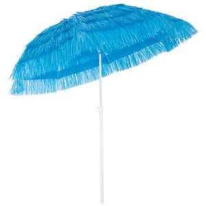 Kingsleeve Sonnenschirm Hawaii Ø160cm Strand Sonnenschirm Gartenschirm Balkonschirm, Farbe:blau - blue - bleu