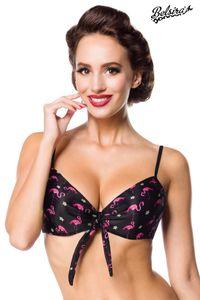Swim Bra Bikinioberteil, Farbe: schwarz/rosa, Größe: 3XL