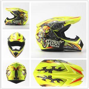 Megacooler Crosshelm Mejia Helm für Kinder gelb Größe M; Kinderhelm Motocrosshelm