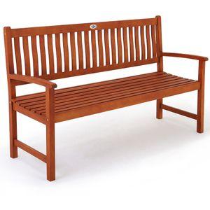 Deuba Gartenbank Maxima 3-Sitzer FSC®-zertifiziertes Eukalyptusholz In- & Outdoor Holzbank Sitzbank Parkbank Bank