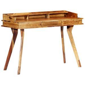 vidaXL Schreibtisch 115 x 50 x 85 cm Massivholz