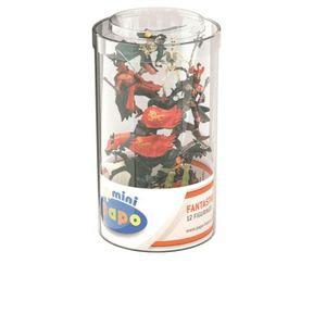 Papo 33022 - Spielfiguren-Set: Mini PLUS Ritter (Kunststoffbehälter, 12 Stück)