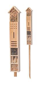 Insektenhotel mit Erdspieß 79x15x10 cm