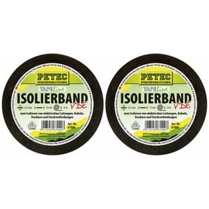 Petec Isolierband 15mm x 10 Meter 87000 - Anzahl: 2x