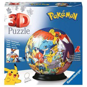 RAVENSBURGER 3D Puzzle Pokémon Puzzleball Kinderpuzzle 72 Teile ø13 cm