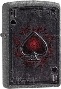 ZIPPO ® Feuerzeug 60002732 Ace Iron Stone Spielkarte Ass Pick