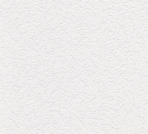 A.S. Création Strukturprofiltapete Simply White 4 Tapete weiß 15,00 m x 0,53 m 272812 2728-12