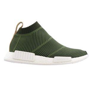 Adidas Originals NMD CS1 PK Primeknit Schuhe Sneaker oliv/weiss B37638, Schuhgröße:43 1/3 EU