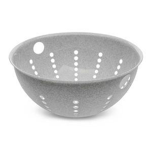 Koziol Palsby L Seihe, Sieb, Abtropfsieb, Küchensieb, Siebschüssel, Kunststoff, Organic Grey, 5 L, 3808670