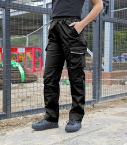 Result WORK-GUARD Damen Cargohose Action Trousers R308F Schwarz Black S