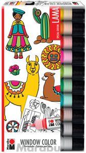 "Marabu Window Color Set ""LAMA"" 10 x 25 ml"