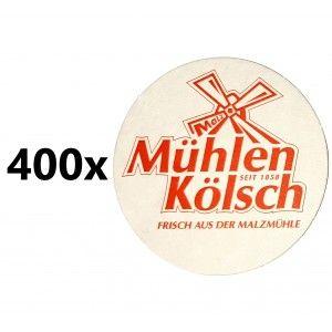 Mühlen Kölsch Bierdeckel / Untersetzer - 400 Stück