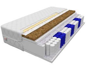 Matratze 180 x 200 cm FERRARA 7 Zonen Höhe ca 24 cm H3 H4 Taschenfederkern mit Kokos