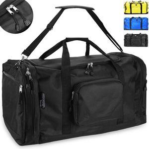 Monzana Sporttasche 90L Reisetasche Trainingstasche Fitnesstasche Gymbag Tasche, Farbe:schwarz