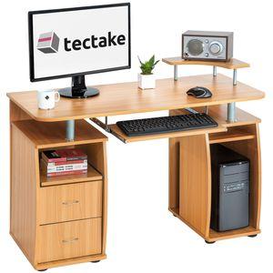 tectake Computertisch 115x55x87cm - buche
