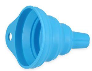 mumbi faltbarer Silikontrichter Trichter klein Einfüllhilfe (ca. 6,3 x 7 cm) blau