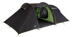 High Peak Familienzelt VIS-A-VIS Zelt fur 6 Personen 3.000 mm wasserdicht mit Wohnkuppel und Stauraum grosses Festivalzelt mit 2 geräumige Schlafkabinen, UV 80 Sonnenschutz, Innenzelt abgedunkelt