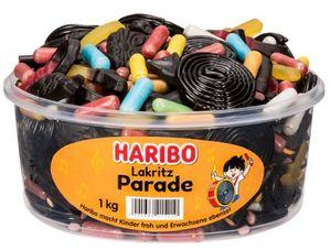 Haribo bunte Lakritz Parade aus Fruchtgummi mit Lakritz 1000g