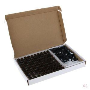 100 STÜCKE Braunglas ätherisches Öl Flasche mit Mundstück Reduzierer schwarze Kappen 1ml