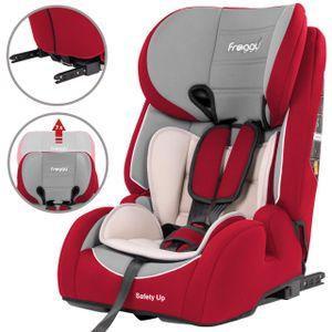 Froggy® Autokindersitz mit ISOFIX Gruppe I/II/III (9-36 kg) + Sicherheitsnorm ECE R44/04 + 5-Punkte-Sicherheitsgurt + verstellbare Kopfstütze Rot