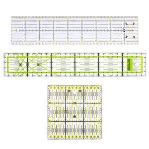 3er Patchworks Lineal Nähen DIY Schneiderlineal Rollschneider-Lineal aus Kunststoff