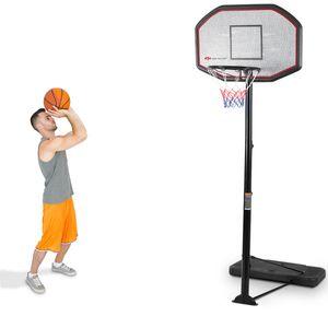 COSTWAY Basketballstaender Basketballkorb mit Staender Basketballanlage Korbanlage hoehenverstellbar von 200 bis 305cm