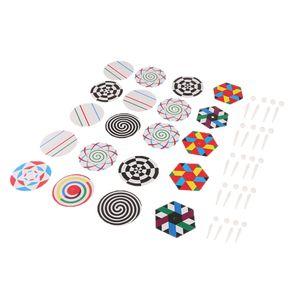 5 X Kunststoff Gyroskop Kreisel Gyroskopkreisel mit Muster Kinder Geschenk Spielzeug