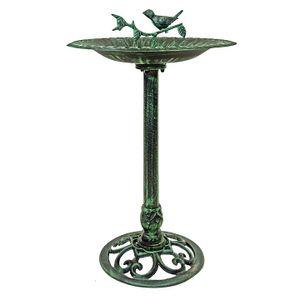 Vogeltränke mit Säule grün/schwarz (22149)