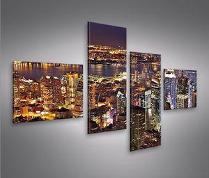 Bilder auf Leinwand New York 4L NYC Kunstdruck XXL Bild Poster Leinwandbilder Wandbilder