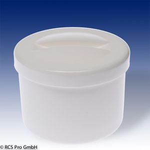 Prothesenbehälter Kunststoff mit Einsatz und Deckel  weiß