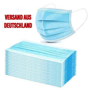 Mundschutz Einweg 3-lagig Atemschutzmasken OP-Masken, Menge:50