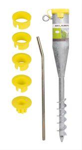 GAH Alberts Einschraub-Bodenhülse für Rohre verzinkt Ø 25-65mm L 560mm