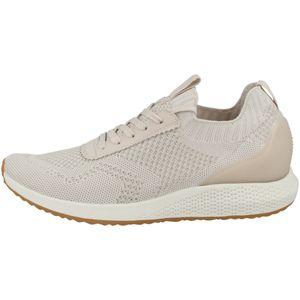 Tamaris Damen Low Sneaker Tavia Fashletics Lace UP 1-23714-26 Beige 443 Sand LT. Gold Textil/Synthetik mit Removable Sock, Groesse:40 EU