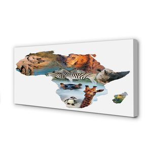 Leinwandbild 120x60 Wandkunst Zebra Giraffe Tiger
