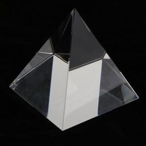 Klare Kristall Pyramide Glaspyramide Briefbeschwerer für Haus Büro und Laden, 8 x 8 x 8 cm