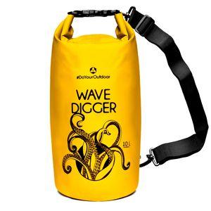 DryBag (wasserdichter Seesack / Tasche) Krake 10L gelb