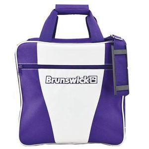 Bowling Ball Tasche Brunswick Gear white white purple