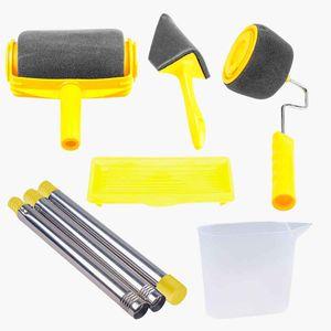 8PCS Farbroller Set, Rollenpinsel-Kit mit Verlängerungsstangen,  Dekorieren für Haus, Schule, Bürowand, Deckenmalerei