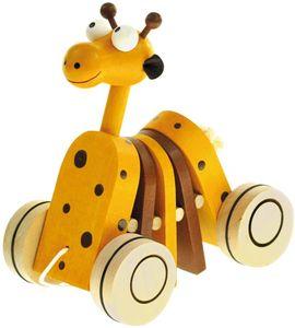 Nachziehspielzeug Ziehtier Giraffe
