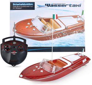 FunTomia Maximum RC | Motorboot in toller Holzoptik | Ferngesteuertes Boot für Kinder | einfachste Steuerung | Holzoptik 27Mhz - 2453