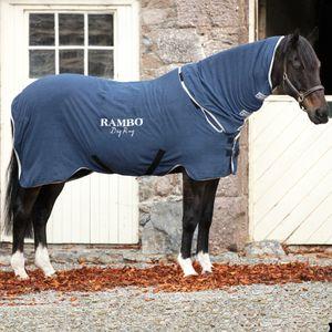 Horseware Rambo Dry Rug - Navy/Silver, Größe:M